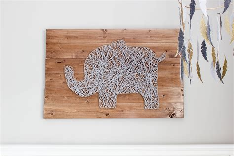String Wood - diy nursery string tutorial erin spain