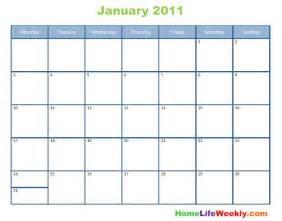 Calendar 2011 Printable Printable Calendar 2011 Home Weekly 171 Home Weekly