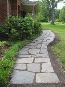 How To Lay A Brick Patio Yourself Slate Walkway On Pinterest