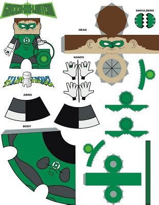 Origami Green Lantern Ring - calvin s canadian cave of coolness sweet papercraft