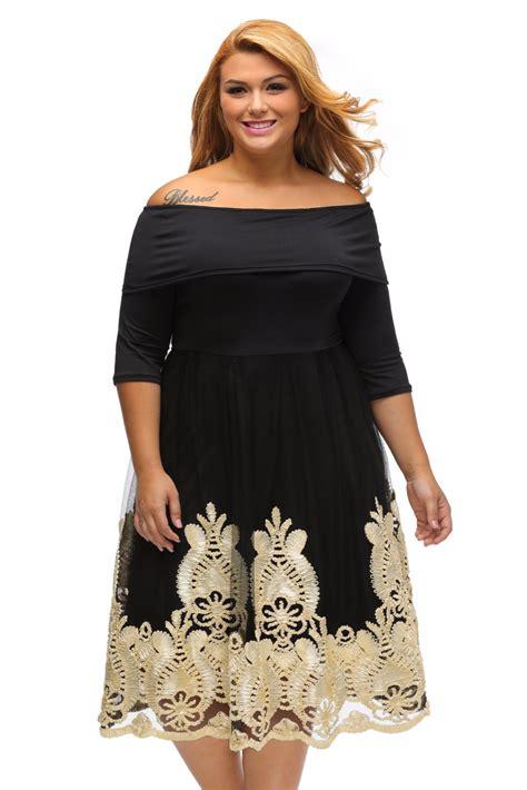 Big Xl Dress plus size dress xl xxxl big dresses lacy embroidery tulle curvy skater dress for work