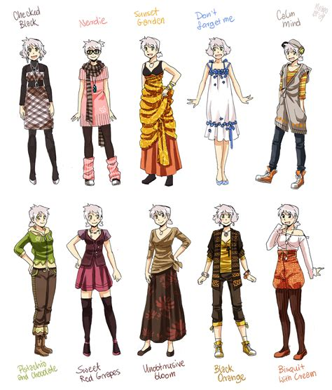 design art wear various female clothes 9 by meago on deviantart