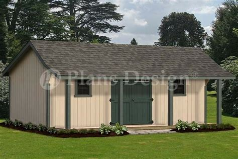 guest house storage shed  porch plans