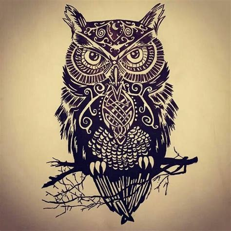 tattoo owl tribal tribal owl tattoos www imgkid com the image kid has it