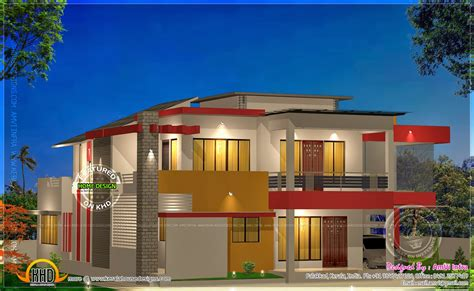 modern 4 bhk house plan in 2800 sq feet kerala home