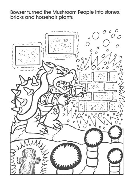 coloring pages book games super likelikes video game art retro mario bowser