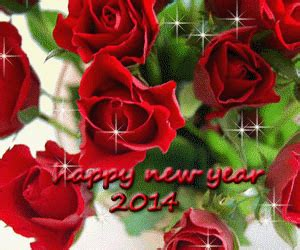 flower happy new year gif free greeting card wallpapers happy new year 2014 animated flowers greeting cards