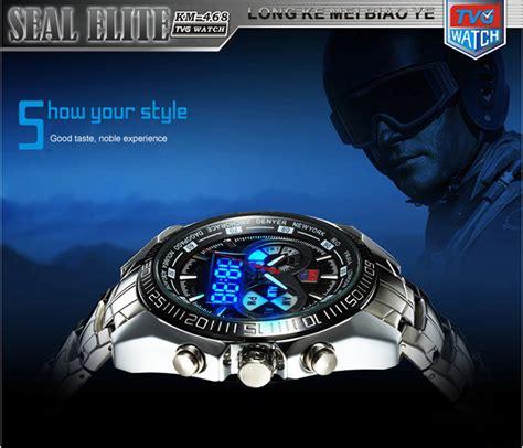 Tvg Jam Tangan Sporty Digital Analog Km 468 tvg km 468 seal elite sports dual movement digial led anolog display quartz