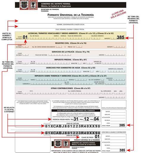 formulario universal tesoreria del d f 2016 formato universal de la tesoreria del d f d f guia de