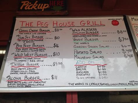 peg house peg house menu picture of the peg house leggett tripadvisor