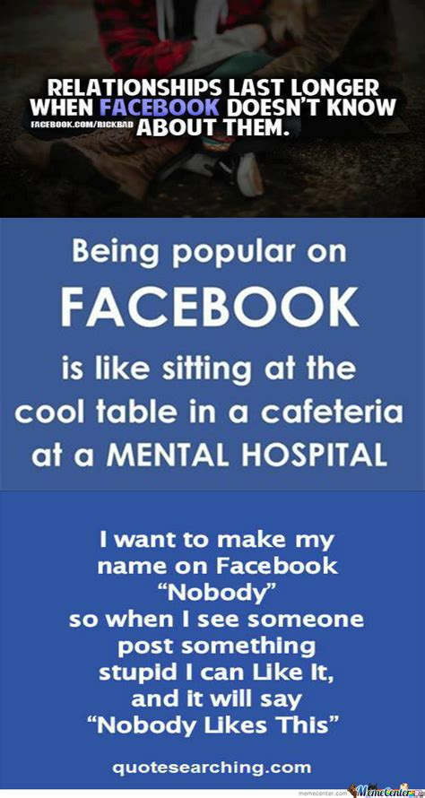 Being Popular On Facebook Facebook Quote