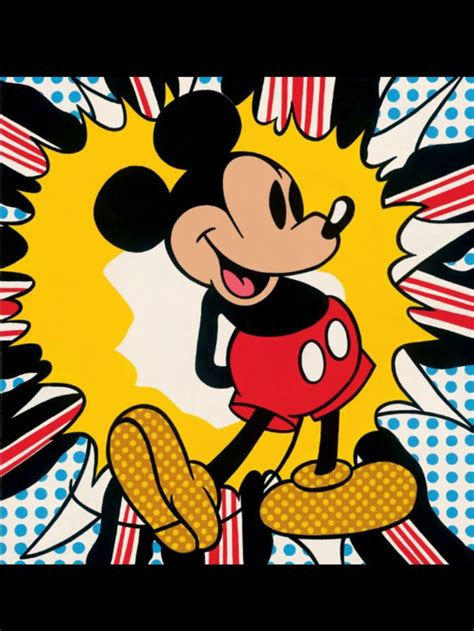 Kaos Mickey Minnie Pop pop mickey mouse andy warhol 1972 andy warhol warhol mickey mouse and mice