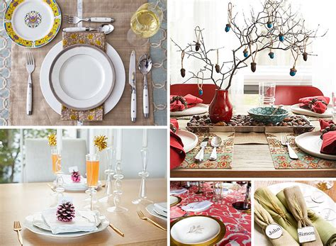 Dining Table Settings Decorations 12 Stylish Thanksgiving Table Setting Ideas