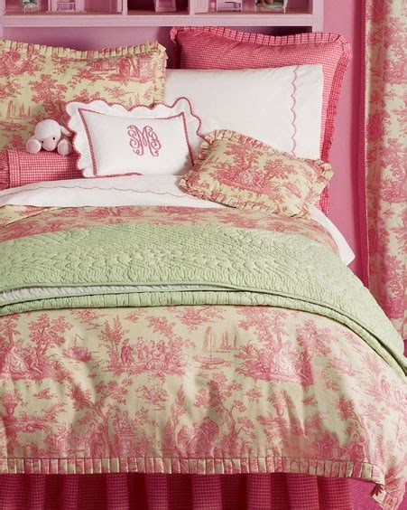 pink and green bedding pink and green toile bedding kid s room guest rooms country homes and