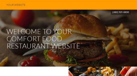 exles of comfort food comfort food restaurant website templates godaddy