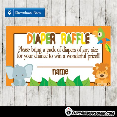 orange jungle baby diaper raffle  instant