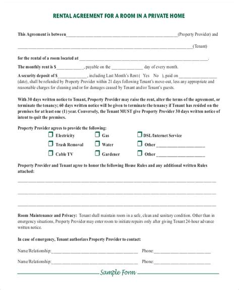 35 Simple Rental Agreement Templates Pdf Word Free Premium Templates Lease Template Pdf