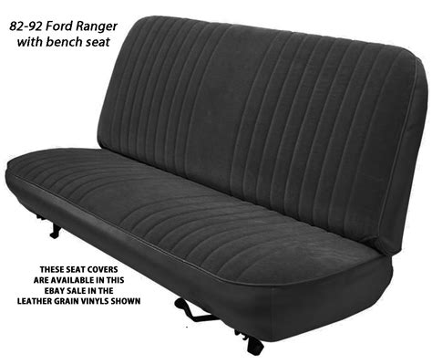 ford ranger bench seat replacement ford ranger factory replacement seat covers 1983 1992 ebay
