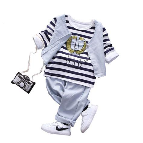 3 Pcs Set Baby Boy Print Clothing Sets Autumn Baby Boys Clothing Set Toddler Children Sport Suit Set 3 Pcs Print Gentleman