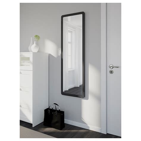 ikea mirror bathroom grua mirror black 45x140 cm ikea