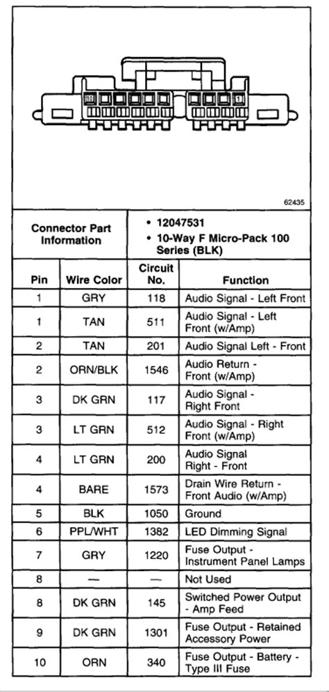 Wiring Diagram: 14 2008 Silverado Radio Wiring Diagram