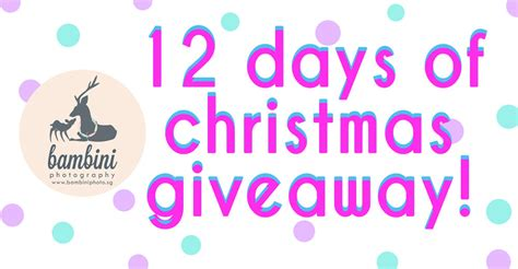 12 Days Of Christmas Giveaway - bambini s 12 days of christmas giveaway