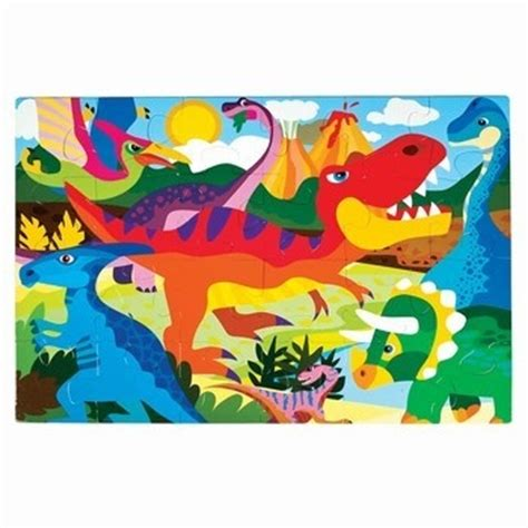 adventure planet dinosaur floor puzzle is 24 pieces and