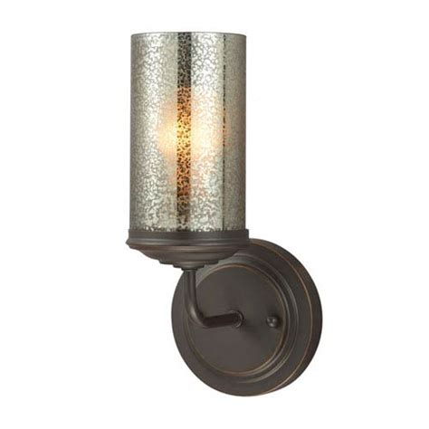 One Light Bathroom Wall Sconce Sea Gull Lighting Sfera Autumn Bronze One Light Bathroom