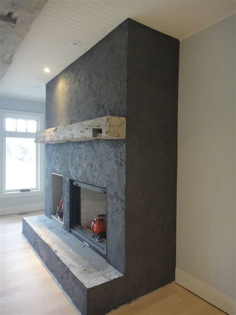Plaster Fireplaces by American Clay Plaster Custom Slate Fireplace Ontario