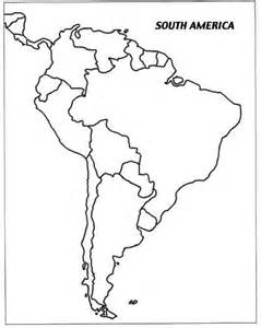 south america blank political map america