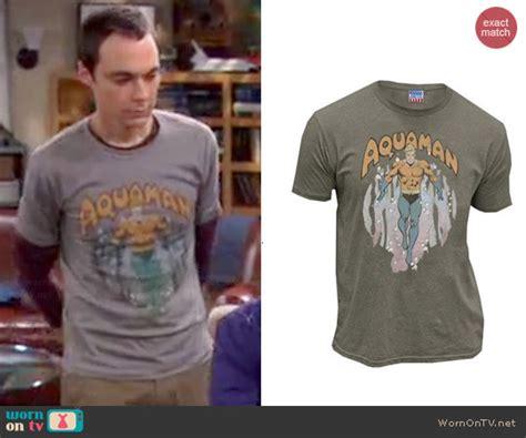 Sheldon Cooper Wardrobe by Wornontv Sheldon S Grey Aquaman Shirt On The Big