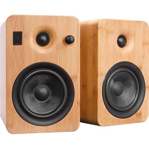 kanto living yumi powered bookshelf speakers yumibamboo b h