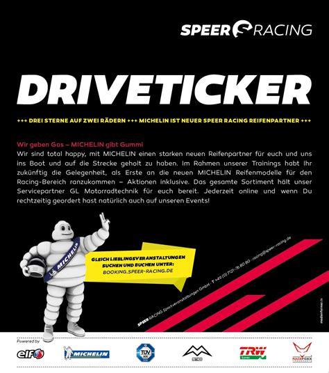 Motorrad Renntraining F R Anf Nger by Speer Racing Gibt Gas Michelin Gibt Gummi Gaskrank Magazin