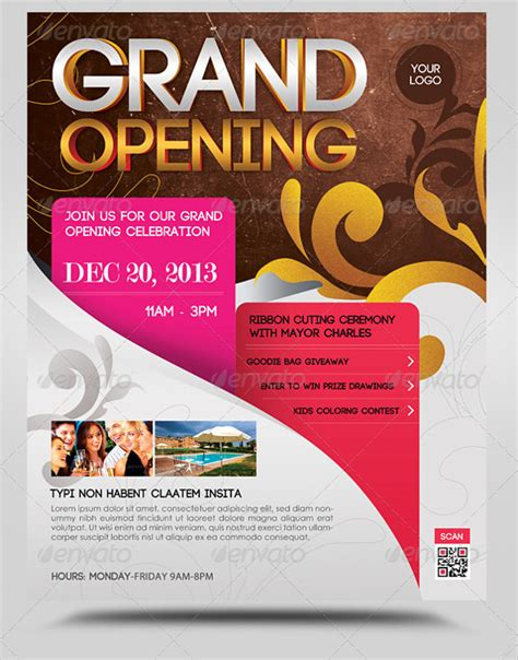 templates for grand opening flyers grand opening flyer template 28 download document in