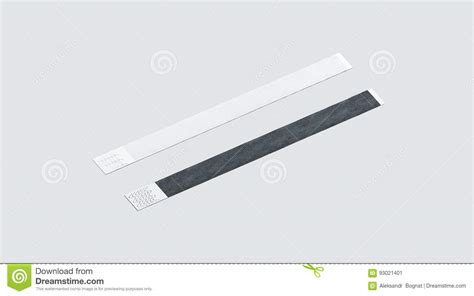 Blank Black And White Paper Wristband Mockup Stock Image Image Of Mockup Care 93021401 Event Wristband Template