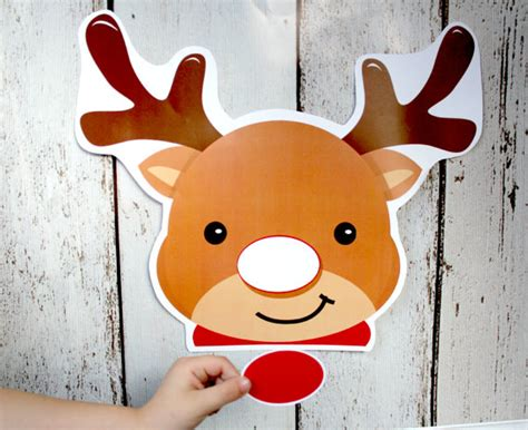 pin the nose on rudolph template items similar to instant pin the nose