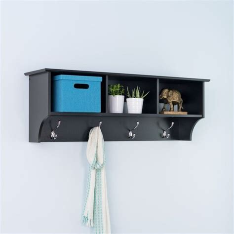 Wall Coat Rack Shelf by Sonoma Black Cubbie Shelf Wall Coat Rack For Entryway