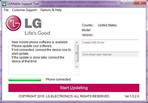 lg mobile software update como atualizar o lg optimus one para o android 2 3