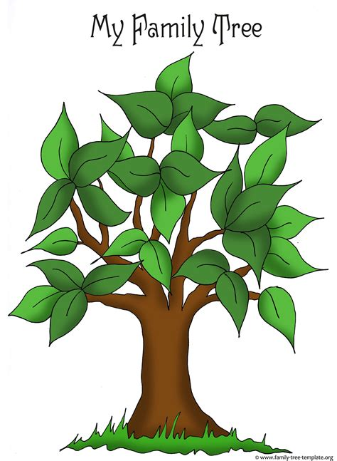 family tree template for kids artistic apple tree template for free placement of family