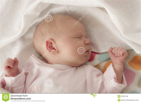 baby sleeping bed baby sleeping in bed stock photo image 27321150