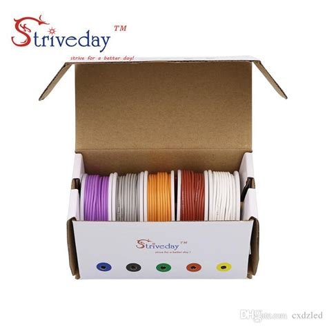 50m 28awg Silicone Wire Cable 5 Color Mix Package Box Ii 2018 50m 26awg silicone wire cable mix box 1 box 2 package electrical wire line copper