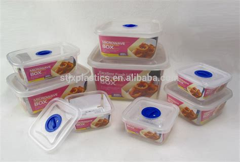 Plastic Food Container Set 4pcs 1 clear plastic food container microwavable buy clear food