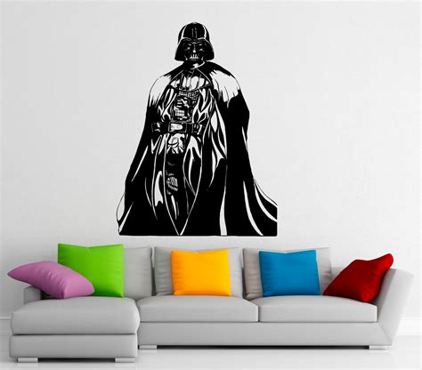 darth vader wall sticker darth vader wall decal vinyl stickers wars home interior