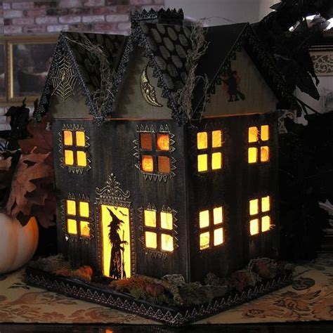 How To Make A Paper Haunted House - light up haunted house paper mache folk