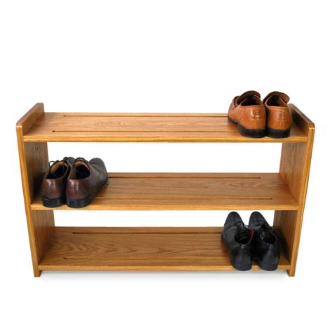 oak shoe racks