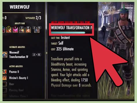 eso build planner skill calc for elder scrolls online how to get the werewolf skill tree in elder scrolls online