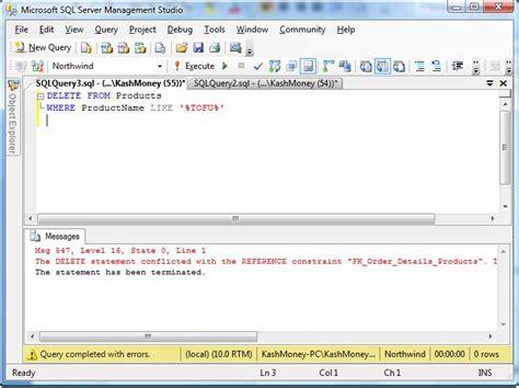 Sql Delete From Tables by Slacker Dba Sql Statements Including Sql Insert Sql