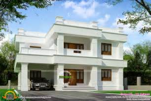 flat roof home designs october 2014 kerala home design and floor plans