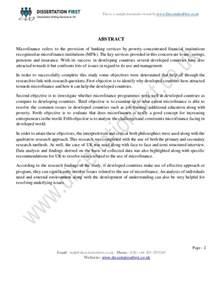 microfinance thesis topics 28 microfinance thesis topics microfinance