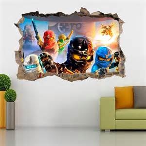 lego ninjago smashed wall 3d decal removable graphic wall cherry blossom wall decals nursery white flower vinyl wall